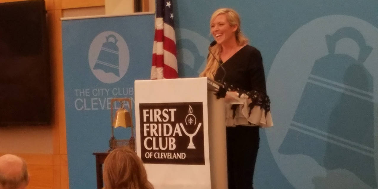 Brooke Taylor shares her faith journey with First Friday Club of Cleveland