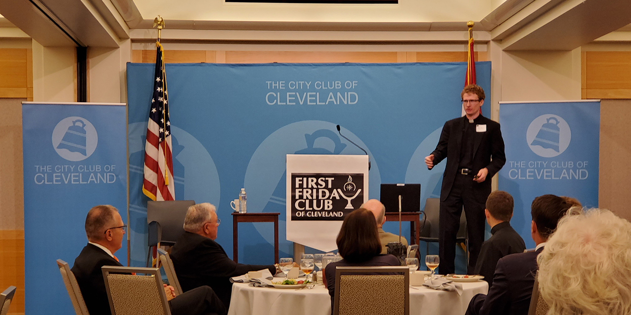 Father Bryan Norton shares priesthood journey with First Friday Club of Cleveland