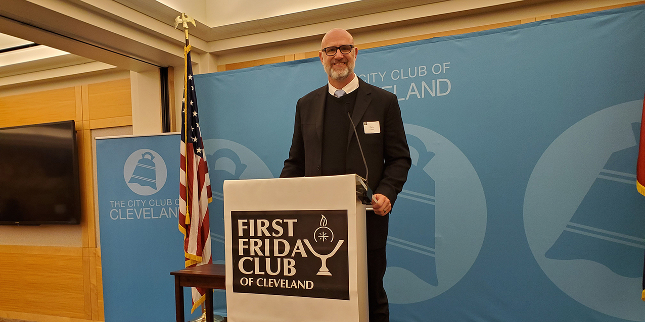 First Friday Club of Cleveland hears how Christ is working in Elvis Grbac's life
