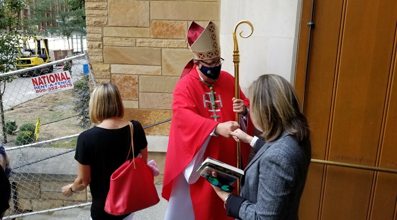 Bishop offers message of hope as he marks first year leading diocese
