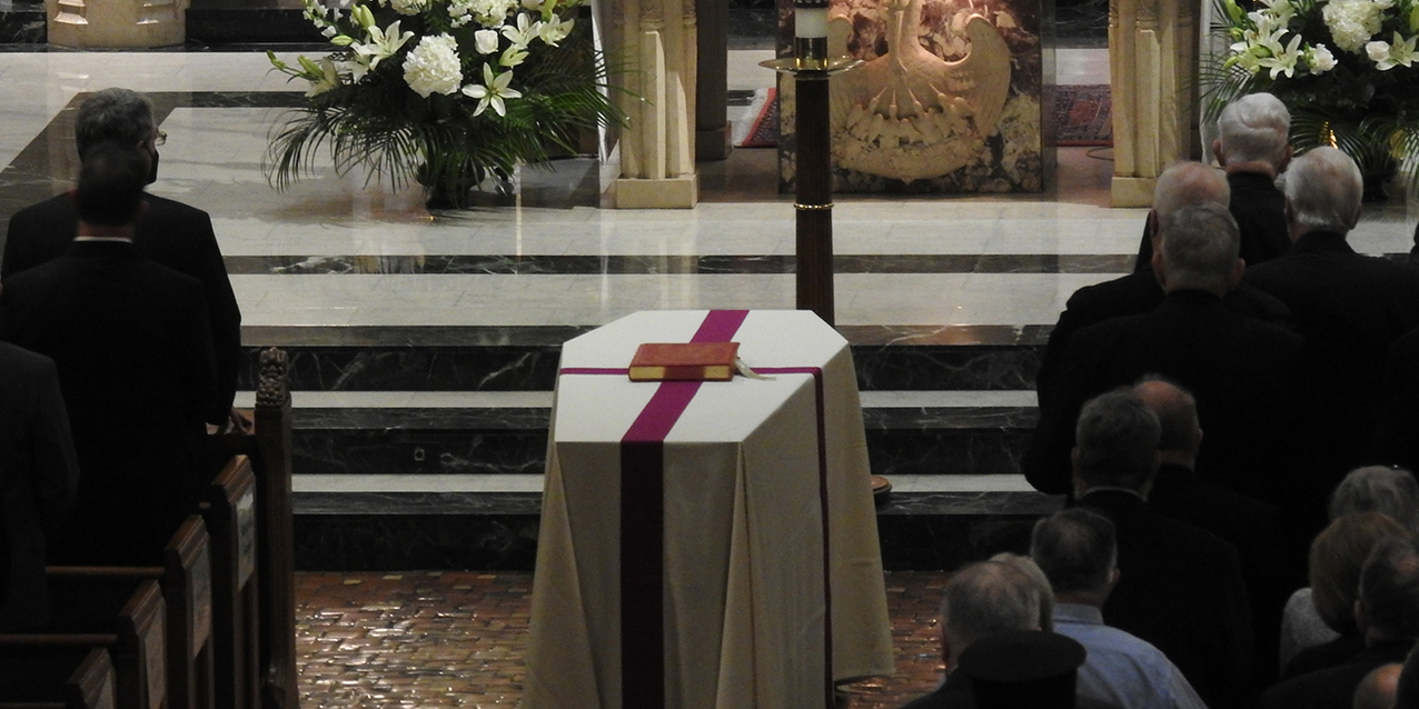 Diocese begins the final farewell for Bishop Anthony M. Pilla