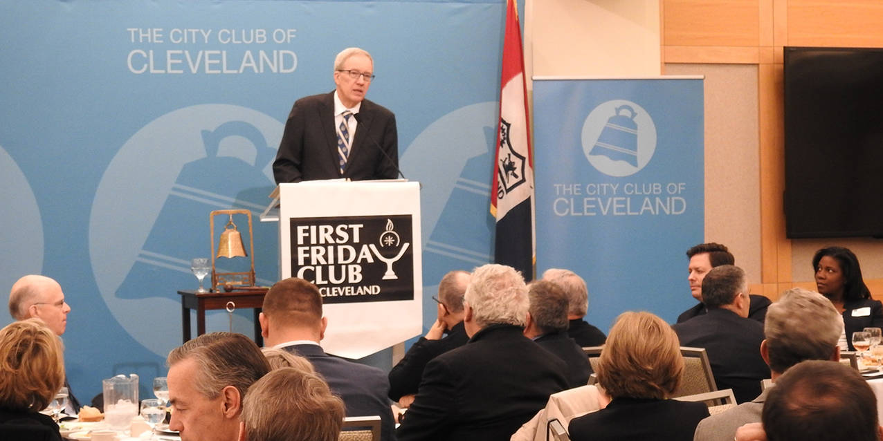 John Carroll University president shares 'inspired leadership' philosophy with First Friday Club of Cleveland
