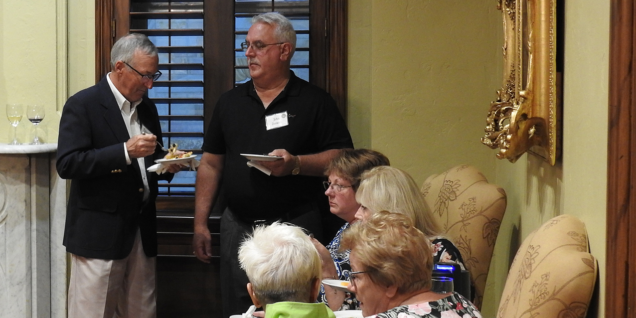 Serra Clubs gather with bishop for prayer, social, discussion