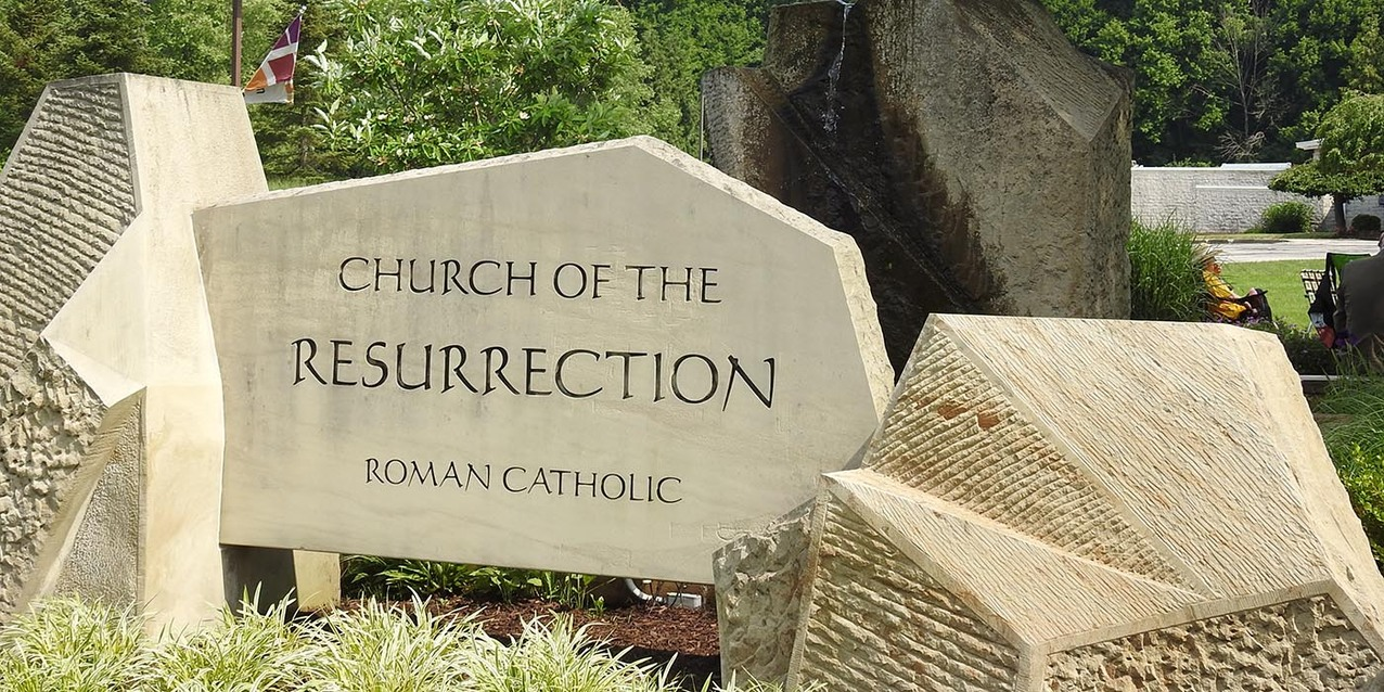 Church of the Resurrection marks 50 years, blesses Healing Garden during bishop's visit