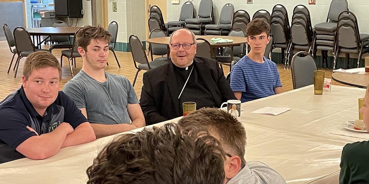 Tolle Lege participants enjoy an evening with the bishop